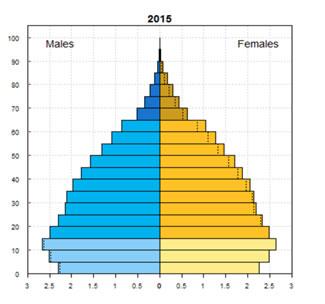 ミャンマーの人口ピラミッド