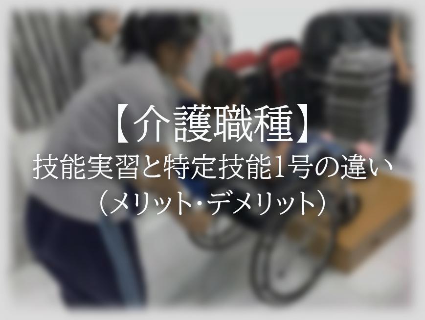【介護職種】特定技能1号と技能実習の違いーメリット・デメリット
