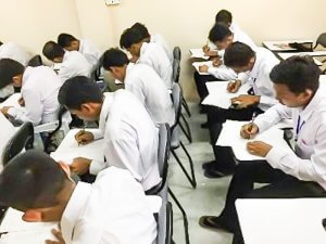 実習生のN4模擬試験合格率96%